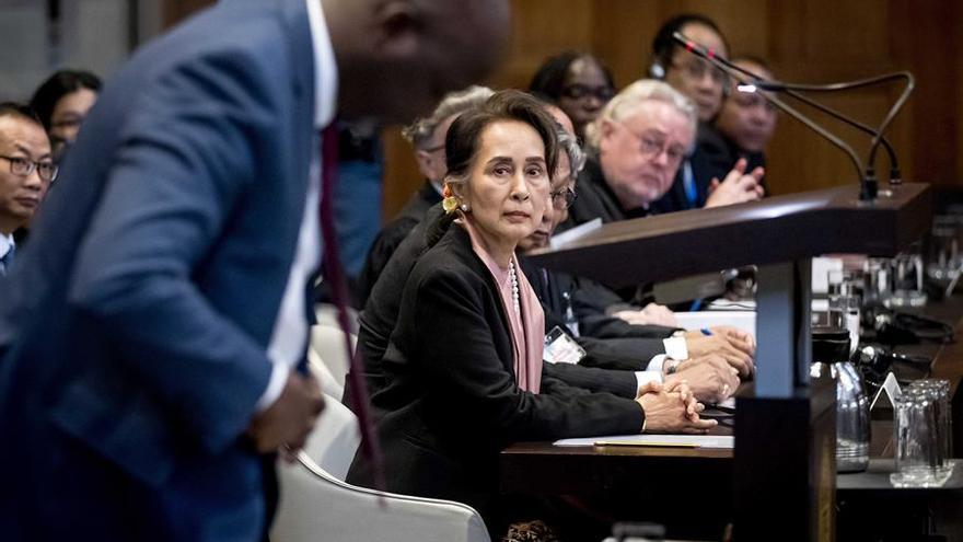 La líder birmana Aung Sann Suu Kyi ante la Corte Internacional de Justicia (CIJ)