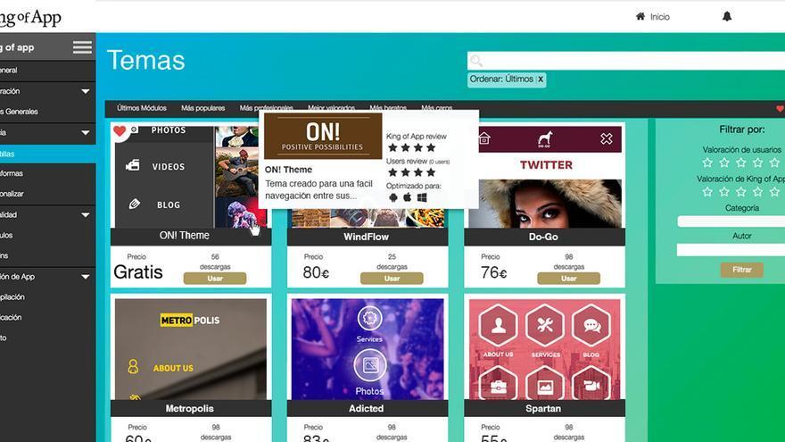 King of App es el CMS español de código abierto para la creación de 'apps'