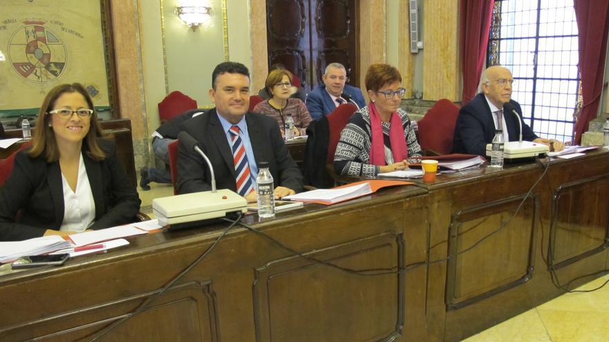 Concejales del Grupo Socialista en el Pleno del Ayuntamiento de Murcia