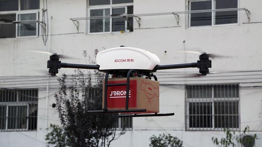 Los envíos por dron que prometía Amazon son ya realidad en China con JD.com