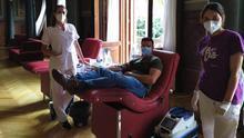 Una donación de sangre.