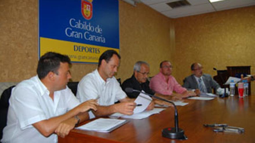 Reunión del consejo de administración del CB Gran Canaria, celebrado el pasado 27 de julio (RAFA LEÓN)