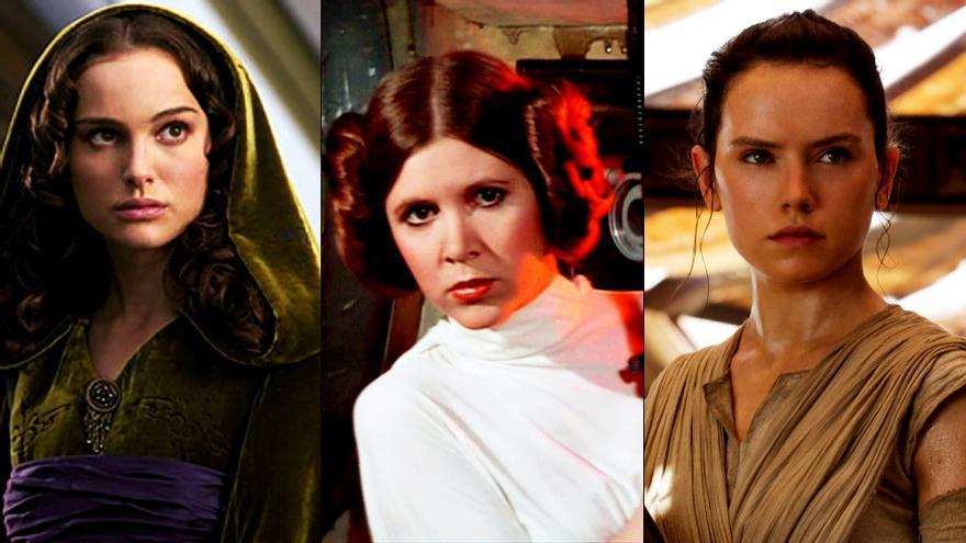 Protagonistas femeninas de 'Star Wars'