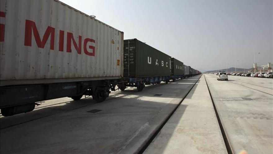 Mercancías descarriladas a su llegada al puerto de Algeciras