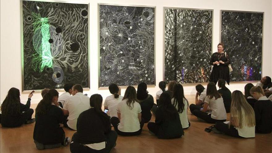 La luz del futuro Guggenheim de Abu Dabi