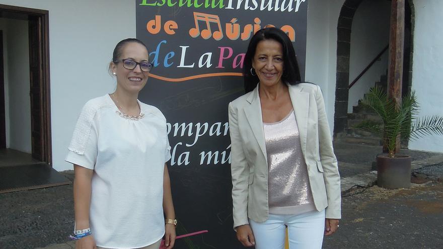 Susana Machín y Milagros Martín.