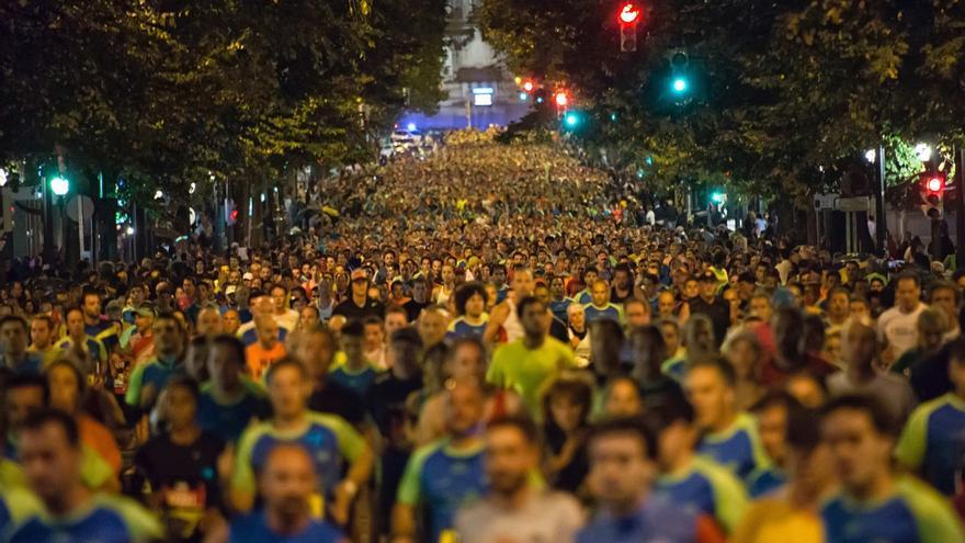 Pharis Kimani, con un tiempo de 2 horas, 17 minutos y 16 segundos, ganador del EDP Bilbao Night Marathon