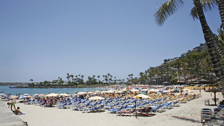 Playa de Anfi, en el sur de Gran Canaria. (ALEJANDRO RAMOS)