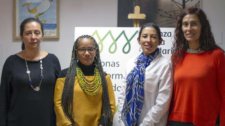 De izquierda a derecha: Pilar Rueda, Charo Minas Rojas, Camila Cienfuegos y Eliana Romero.