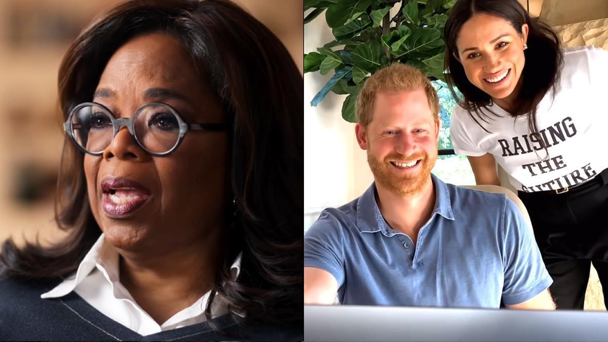 Oprah Winfrey, el príncipe Harry y Meghan Markle