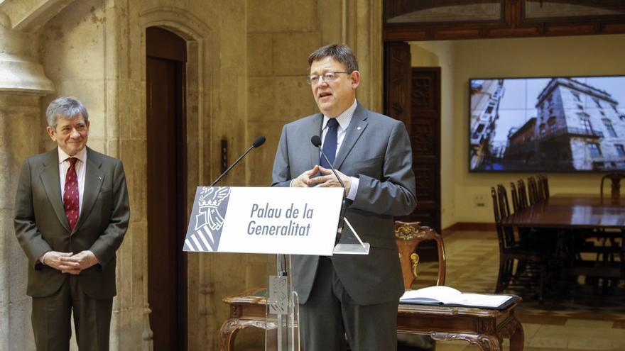 El presidente de la Generalitat, Ximo Puig, en la presentación del Plan Avalem Joves.