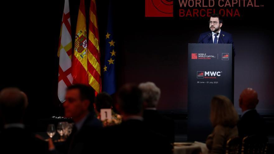 Aragonès pide que la digitalización sirva para cohesionar la sociedad