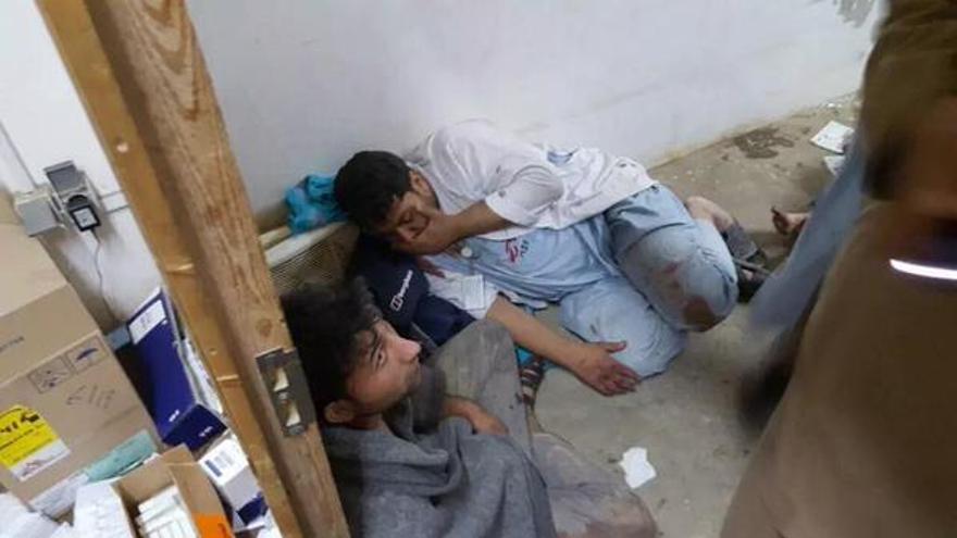 Imágenes tras el bombardeo por parte de Estados Unidos de un hospital de Médicos Sin Fronteras. / @MSF_espana