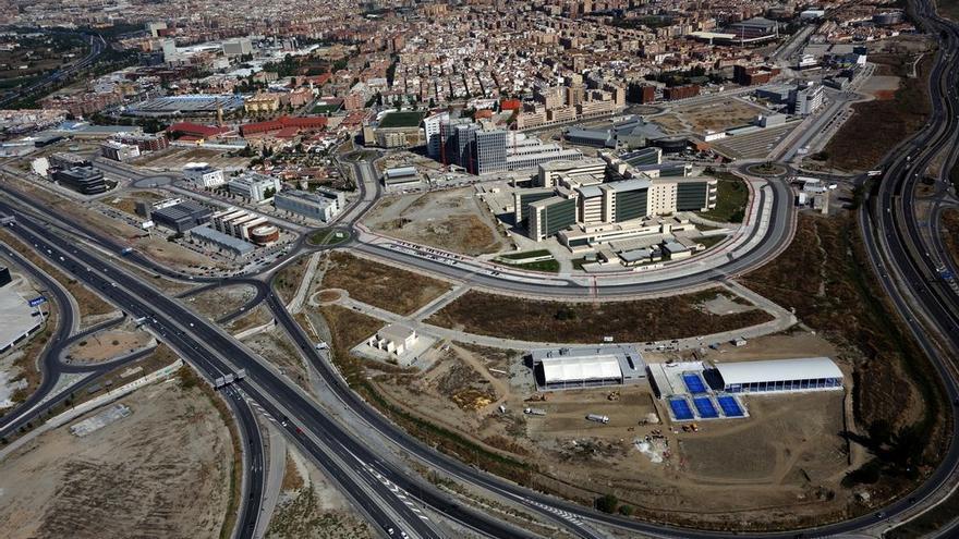 Panorámica aérea del Parque Tecnológico de la Salud, ubicado en la zona sur de la ciudad de Granada.