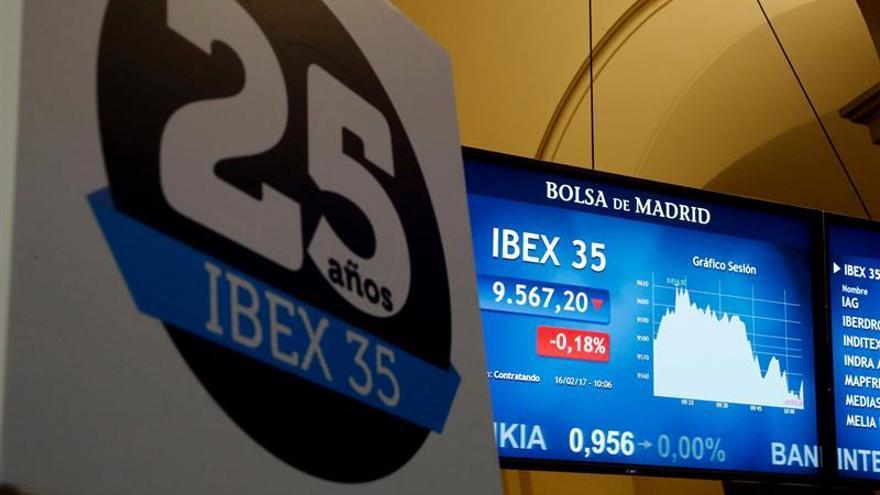 La Bolsa española se da la vuelta y pierde un 0,10 por ciento tras la apertura
