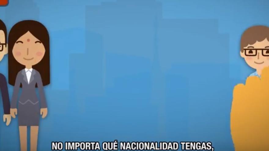 Captura del vídeo que Exteriores ha lanzado para defender los derechos humanos en el Consejo de la ONU.