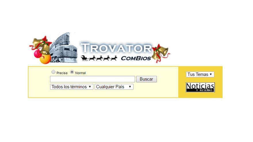Este era el aspecto de la portada de Trovator en diciembre de 1998