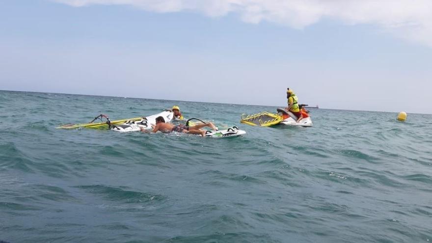 Momento de un rescate en Alicante