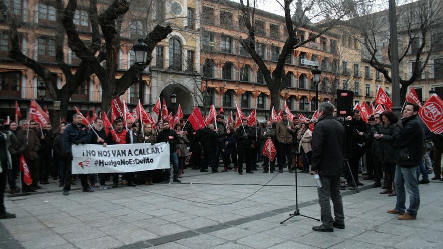 Manifestación derecho a huelga en Toledo