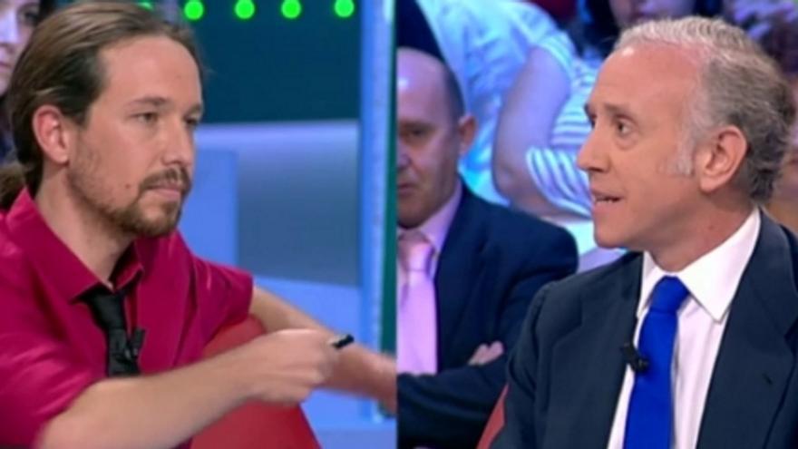 Pablo Iglesias y Eduardo Inda en televisión (La Sexta)