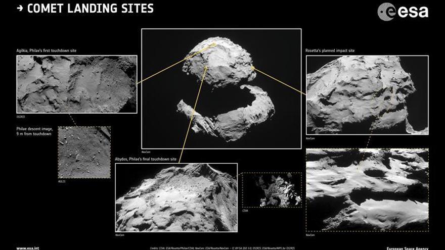 """Rosetta registró imágenes geológicamente """"increíbles"""" del cometa 'Chury'"""