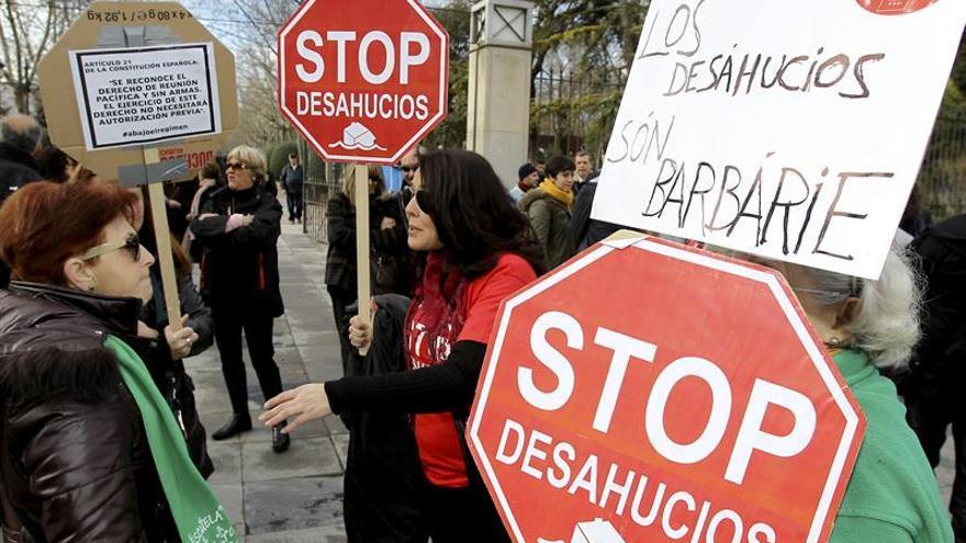 Manifestación contra los desahucios