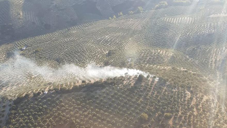 Imagen del incendio en una foto distribuida por el Infoca.
