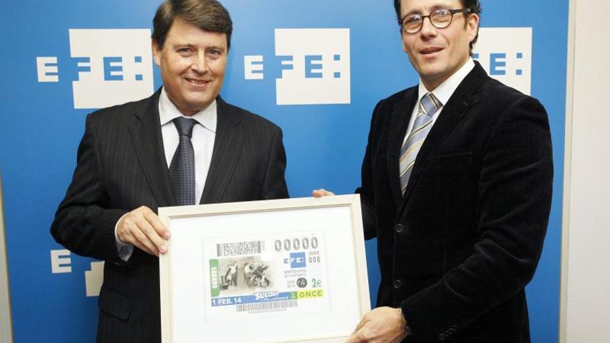 El 75 aniversario de EFE, que nació en Burgos, plasmado en el cupón de la ONCE