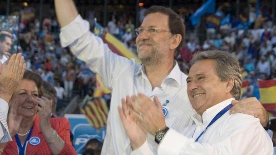 El presidente de la Diputación de Valencia, Alfonso Rus, junto a Mariano Rajoy