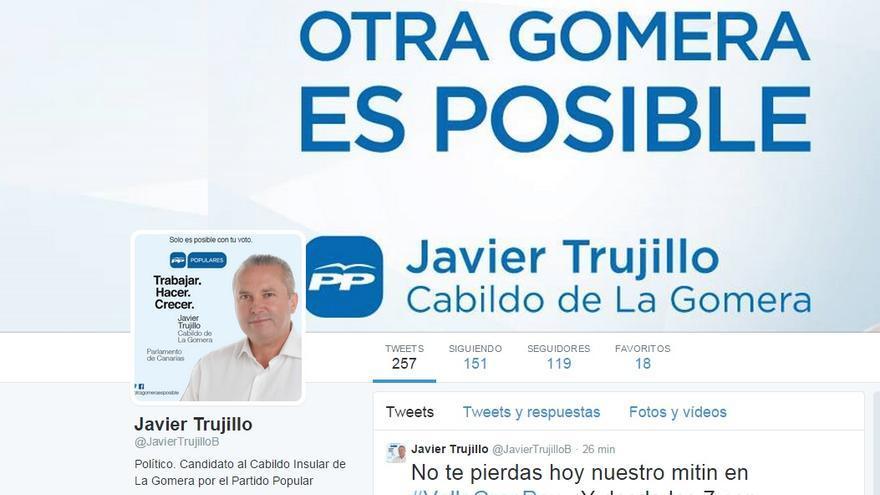 Pantallazo de la cuenta de Twitter de Javier Trujillo.