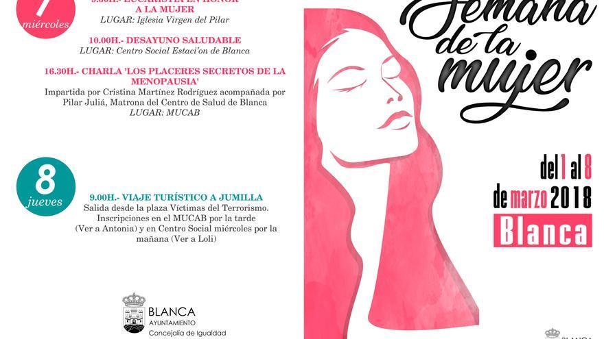 Blanca celebra la Semana de la mujer con dos eucaristías