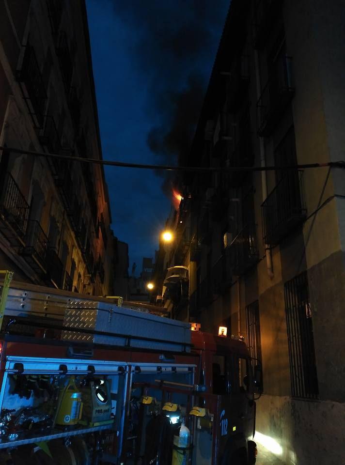 Imagen del incendio  ARTURO JOSÉ MENGUAL