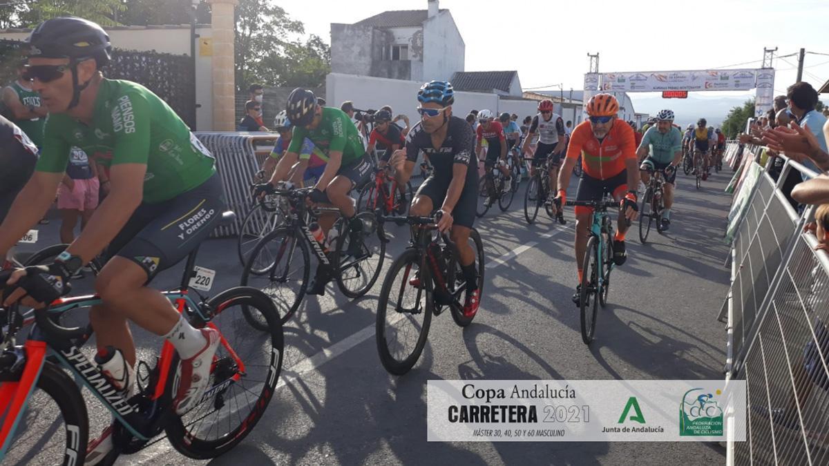 Ciclistas en el Gran Premio de Montemayor