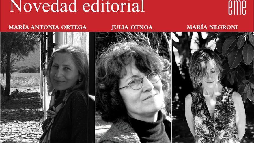 Las tres autoras de la nueva colección de literatura de mujeres.