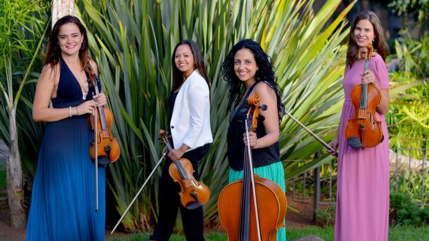 En la imagen, las integrantes del cuarteto de cuerda.