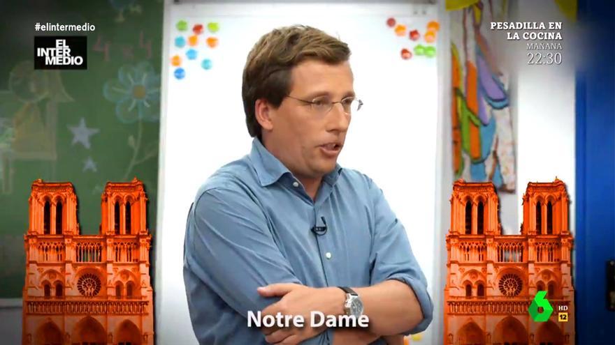 'Notre Dame, Notre Dame': 'El Intermedio' convierte en hit la polémica explicación de Martínez - Almeida