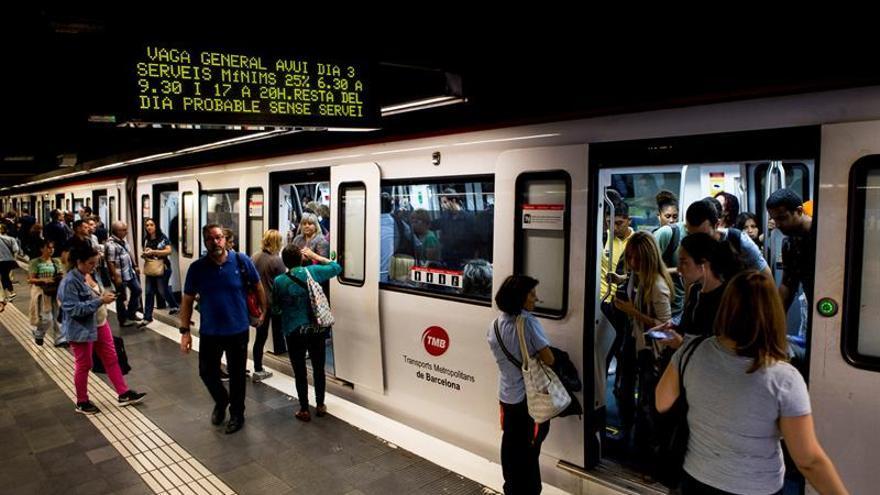 Metro de Barcelona mantiene la huelga tras fracasar la mediación