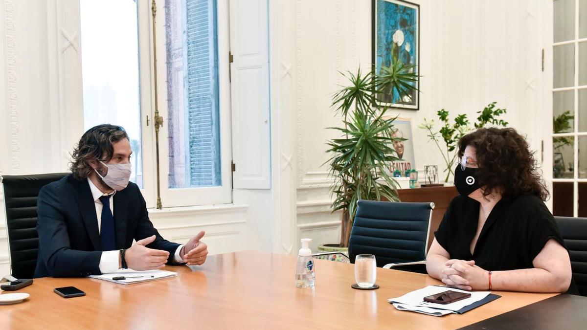 Carla Vizzotti con Santiago Cafiero