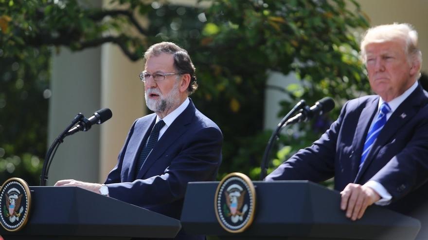 """Trump y Rajoy piden juntos a la UE que adopte sanciones para Venezuela: """"No caben paños calientes"""""""