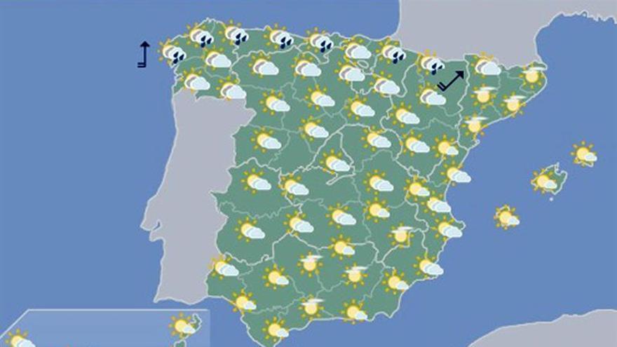 Hoy, temperaturas en ascenso en la Península
