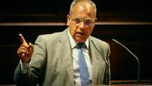 Casimiro Curbelo en el Parlamento de Canarias