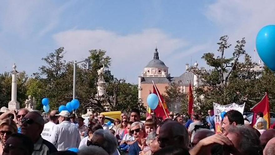 Manifestación en Aranjuez. Foto: Huganding | Twitter