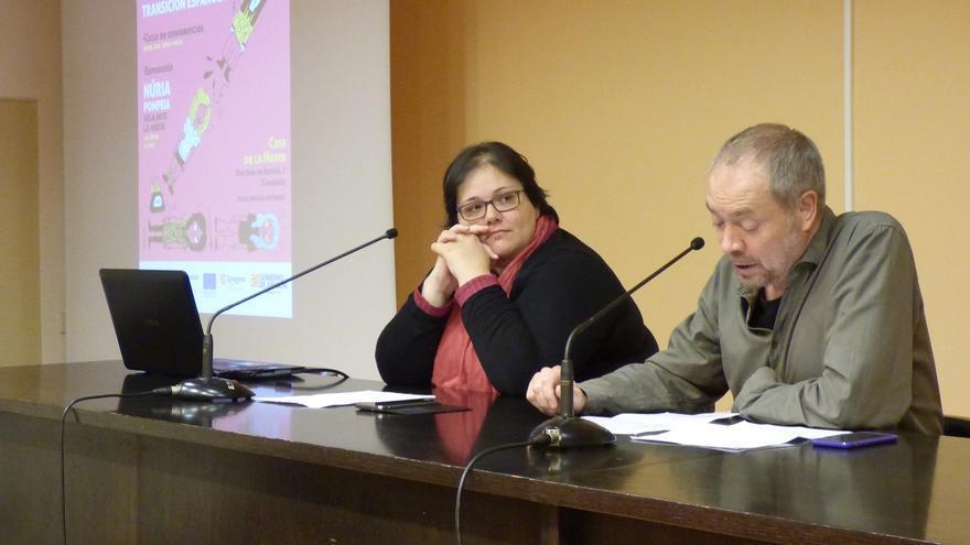 Elena Masarah y Gerardo Vilches durante la presentación