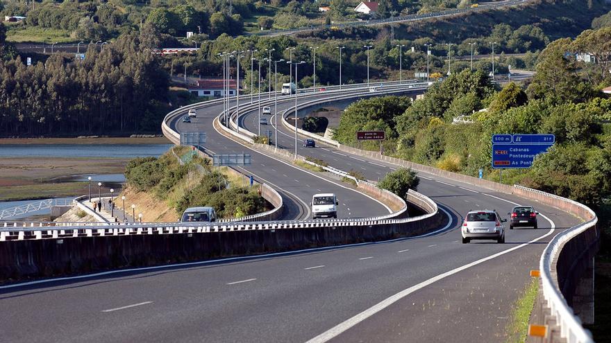 La AP-9 a su paso por Cabanas (A Coruña)