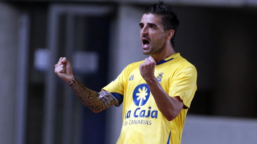 Portillo celebra el segundo gol amarillo (ACFI PRESS)