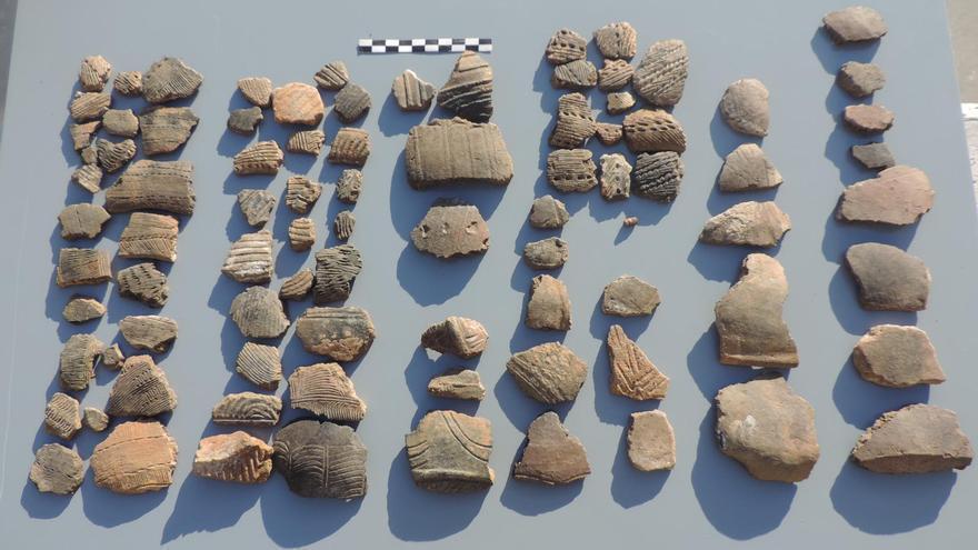 Parte de los fragmentos incorporados.