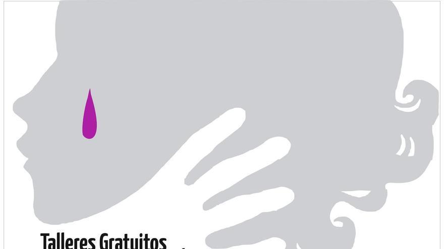 Cartel de los talleres para conmemorar el Día Internacional contra la Violencia de Género.