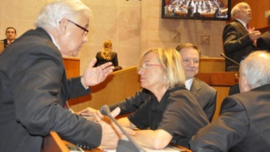 La Presidenta Del Grupo De PSOE, Eva Almunia