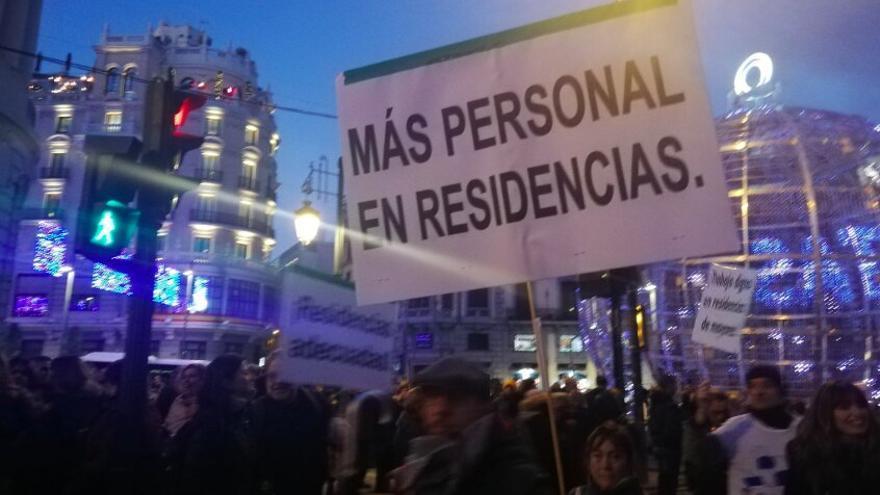 Una imagen de la manifestación del pasado sábado en Madrid.