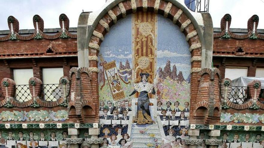 Vista de la fachada del Palau de la Música de Barcelona.